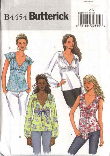 Butterick Sewing Pattern 4454 Misses  Size 14-16-18-20 Easy Raised Empire Waist Pullover Top