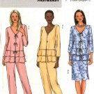 Butterick Sewing Pattern 4466 B4466 Misses Size 8-14 Easy Tiered Peplum Top Skirt Pants