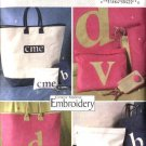 Butterick Sewing Pattern 4473 Machine Embroidery Accessories Totebag Handbag Cosmetic Bag