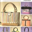 Butterick Sewing Pattern 4474 Misses Fashion Accessory Handbags Purses Totebag Pocketbook