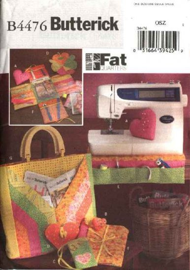 Butterick Sewing Pattern 4476 Fat Quarters Sewing