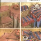 Butterick Sewing Pattern 4481 Tabletop Chair Seat Placemat Napkins Table Runner Tablecloth