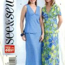 Butterick Sewing Pattern 4494 Misses Size 20-22-24 Easy Pullover Top Skirt Two-Piece Dress