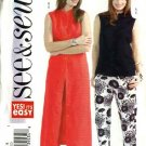 Butterick Sewing Pattern 4499 Misses Size 8-10-12 Easy Sleeveless Top Dress Duster Pants