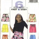 Butterick Sewing Pattern 4507 Girls Size 12-14-16 Easy A-Line tiered Skirt Shorts Pants