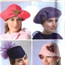 Butterick Sewing Pattern 4530 Four Lined Misses' Fashion Hats