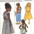 Butterick Sewing Pattern 4543 Girls Size 2-3-4-5 Easy Sun Top Dirndl Skirt Pants Shorts