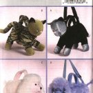 Butterick Sewing Pattern 4562 B4562 Four Stuffed Animal Handbags Purses Cat Tiger Poodle Dog