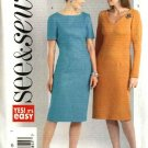 Butterick Sewing Pattern 4576 Misses Size 20-22-24 Easy Short Long Sleeve Straight Dress