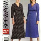 Butterick Sewing Pattern 4577 Misses Size 8-10-12 Easy Empire Waist A-Line Long Sleeve Dress
