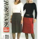 Butterick Sewing Pattern 4580 B4580 Misses Size 6-12 Easy Classic Straight Skirts