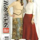 Butterick Sewing Pattern 4581 Misses Size 12-14-16 Easy A-Line Godet Lined Skirt