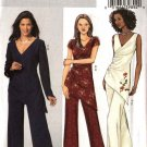 Butterick Sewing Pattern 4604 Misses Size 8-14 Easy Lined Mock Wrap Tunic Pants Sleeve Variations