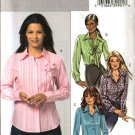 Butterick Sewing Pattern 4609 Misses Size 16-22 Easy Button Front Long Sleeve French Cuff Shirt