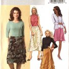 Butterick Sewing Pattern 4615 Misses Size 6-8-10-12 Easy Flared Tiered Layered Wrap Skirt