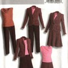 Butterick Sewing Pattern 4620 B4620 Misses Size 6-12 Wardrobe Lined Jacket Top Flared Skirt Pants