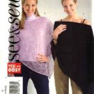 Butterick Sewing Pattern 4640 Misses Size 8-10-12-14 Easy Shaped Lightweight Fabric Poncho