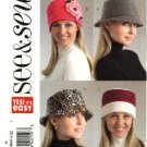 Butterick Sewing Pattern 4643 Misses Size S-L Easy Three Lined Fleece Wool Hats