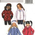 Butterick Sewing Pattern 4648 Girls Size 2-3-4-5 Easy Zipper Front Hooded Fleece Fake Fur Jacket Hat