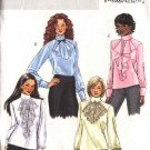 Butterick Sewing Pattern 4658 Misses Size 6-8-10-12 Easy Back Buttoned Jabot Blouses