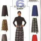 Butterick Sewing Pattern 4661 Misses Size 8-14 Easy A-Line Long Short Skirt Optional Flounce