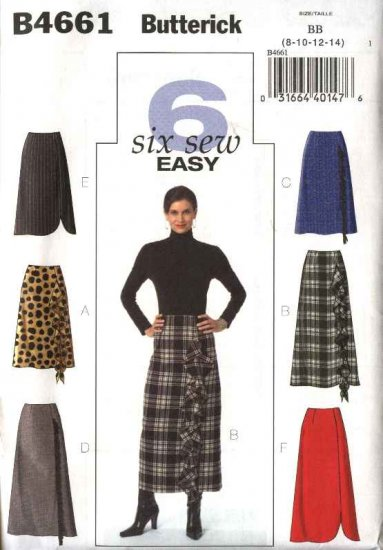 Butterick Sewing Pattern 4661 Misses Size 16-18-20-22 Easy A-Line Long Short Skirt Optional Flounce