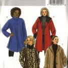 Butterick Sewing Pattern 4663 Misses Size 8-14 Easy Button Front Short Hooded Fleece Melton Coat