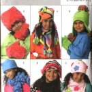 Butterick Sewing Pattern 4674 Girls' Fleece Embellished Hats Scarves  Mittens