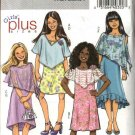 Butterick Sewing Pattern 4681 B4681 Girls Plus Size 10½-16½ Easy Sheer Poncho Sleeveless Dress