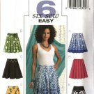 Butterick Sewing Pattern 4686 Misses Size 6-8-10-12 Easy Pleated Yoke Flared Skirts