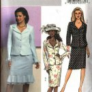Butterick Sewing Pattern 4689 Misses Size 8-10-12-14 Easy Button Front Jackets Straight Skirts Suit