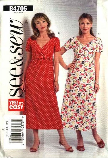 Butterick Sewing Pattern 4705 Misses Size 14-16-18-20 Easy A-line Raised Empire Waist Dress