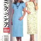Butterick Sewing Pattern 4706 Misses Size 8-10-12-14 Sleeveless Short Sleeve Straight Dress