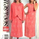 Butterick Sewing Pattern 4708 Misses Size 8-10-12-14 Easy Loose Jacket Sleeveless Dress