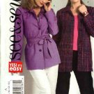 Butterick Sewing Pattern 4709 Misses Size 8-10-12-14 Easy Long Sleeve Button Front Jacket Belt