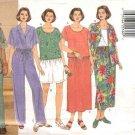Butterick Sewing Pattern 4950 B4950 Womans Plus Size 22W-26W Easy Top Skirt Pants Shirt Shorts