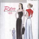Butterick Sewing Pattern 5136 Misses Size 6-8-10-12 Easy Retro '48 Long Evening Gown Formal Dress