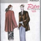 Butterick Sewing Pattern 5144 Misses Size 16-24 Easy Retro '48 Lined Swing Jacket