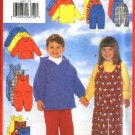 Butterick Sewing Pattern 5164 Boys Girls Size 2-3-4 Easy Wardrobe Top Jumpsuit Overalls Pants Hoodie