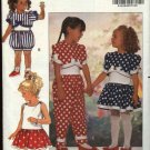 Butterick Sewing Pattern 5284 Girls Size 1-3 Easy Sleeveless Dress Top Romper Jumpsuit