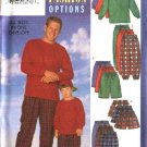 Butterick Sewing Pattern B5286 5286 Men S-XL Boys 2-8 Easy Pullover Long Sleeve Tops Pants Shorts