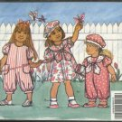 Butterick Sewing Pattern 5347 Toddler Girl Size 1-3 Easy Dress Jumpsuit Hat