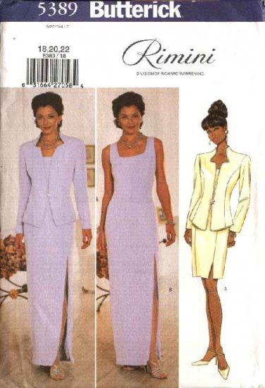 Butterick Sewing Pattern 5389 Misses Size 6-8-10 Formal Evening Long Straight  Dress Jacket