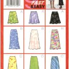 Butterick Sewing Pattern 5431 Misses Size 6-8-10 Easy Bias A-line Lined Skirt Length Variations