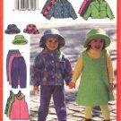 Butterick Sewing Pattern 5717 Girls Size 2-3-4-5 Easy Wardrobe Jacket Jumper Skirt Pants Hat Fleece