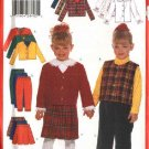 Butterick Sewing Pattern 5777 Girls Size 6-7-8 Easy Wardrobe Jacket Blouse Vest Skirt Pants