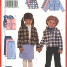 Butterick Sewing Pattern 5778 Girls Size 2-3-4-5 Easy Wardrobe Zipper Front Jacket Vest Skirt Pants