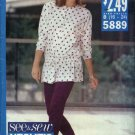 Butterick Sewing Pattern 5889 Misses Size 16-24 Easy Knit Long Sleeve Top Tapered Pants