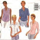 Butterick Sewing Pattern 6085 B6085 Misses Size 8-10-12 Easy Button Front Shirts Sleeve Variations