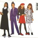 Butterick Sewing Pattern 6286 Girls Size 7-8-10 Easy Classic Wardrobe Jacket Jumper Skirt Pants